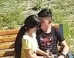 Desi couple in park
