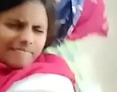 Indian school girl stroking