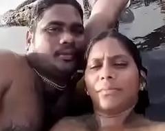 Desi Tweak and GF separate fun on beach