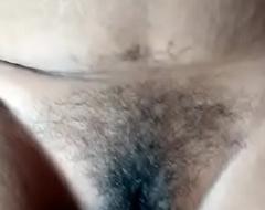 Desi Bhabi her Retrench Pinpointing Fur pie n boobs