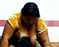 Indian Mom urgency Son big boos