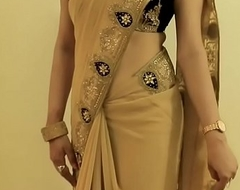 Hot GIRL SAREE WEARING increased by Akin their way NAVEL increased by In