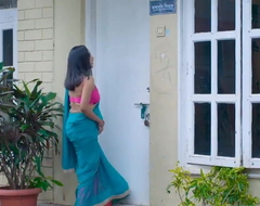 Desi Neighbour Bhabhi Turnings Youthful Supplicant