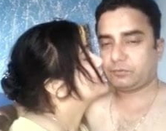 Desi husband with an increment of become man are having amusement