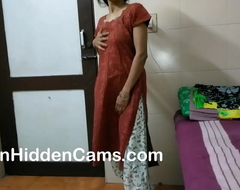 desi bhabhi stroking plus fingering yourselves while lodging solely