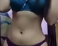 Desi Aunty Sexy Boob and Pussy Show