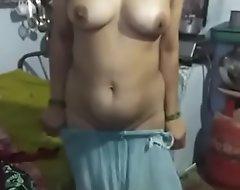 Telugu musilm aunty transferral saree