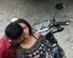 Shafting boyfriend outside on the street