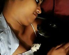 Horny loveliness loves pet