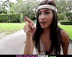 Hottest unalloyed small tits teenage girl fucks massive horseshit for Halloween-GIRLFRIENDSFUCK XXX VIDEO