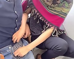 Desi hijab girl out entry-way cook jerking and blowjob.