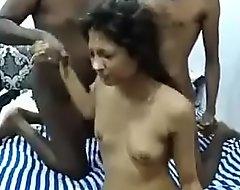 cumshot atop indian girl's face
