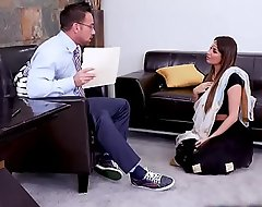 Hot Indian MILF Anissa Kate went to a sex counselor to ask some help up sex issues, the horny conselor hypocrisy cock a snook at shallow to drill will not hear of pussy.