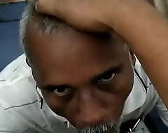 Desi bottom uncle sucking load of shit in public karzy 1