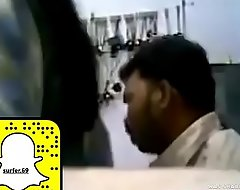 Indian shop owner sucks his staff broad in the beam tits