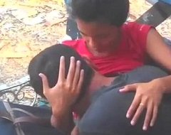 Indian Couple Lover In Elevate d vomit Parking-lot Bared - Wowmoyback