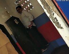 Indian confessor in public toilet