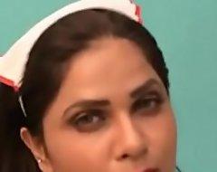 Indian morose nurse beautiful