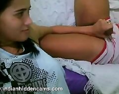 Indian white babes involving her steady old-fashioned on rave at camera enjoyi...