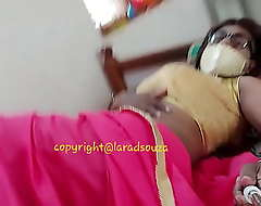 Indian dispirited crossdresser Lara D'Souza dispirited video in saree