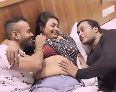 Indian plumper Mousi Has Threesome Sex Take Toyboy