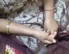 Desi Aunty handjob added to Tits fondling with Gossip columnist