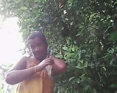 Dehati Bhabhi Bathing & Akin Open-air (Full)