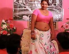 Yoga teacher Gives instructions