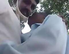 Indian Grand-dad n Enchase having fun outdoor
