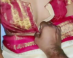 Hand-picked color sary in Indian sexy wife