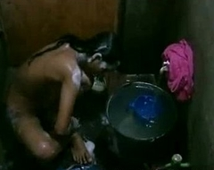 Bangladeshi Indian Young Girl Taking Shower