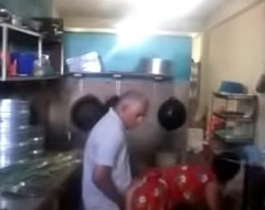 indian man made quicky with maid at home