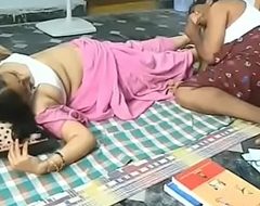 Indian padre enjoyment from back mommy