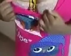 Tamil wife pink dress twit