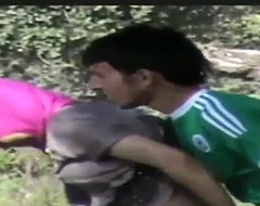 Xfrozen - Busted Syrian Refugees Having Sex In Burnish apply Forest attaching 1