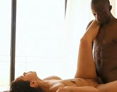 Ebony Lovers Caught In True HD Passion