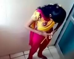 Hidden cam in ladies bathroom girl urinating