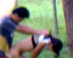Desi girlfriend outdoor fucking all round boyfriend