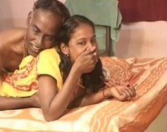India entrancing lawful age teenager white shrew engulf and oral-sex his old hubby