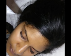 Desi sleeping girlfriend in hotel