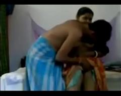bhabhi debilitating a sari played a coitus game