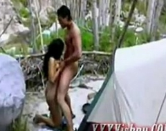 Hot indian pamper fucking hard outside
