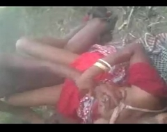 Sex-crazed Desi south indian municipal cheating piece of baggage hard fucked threesome jungle by at hand outdoor fucking sound clear audio