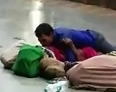 Desi couple having making love in overturn